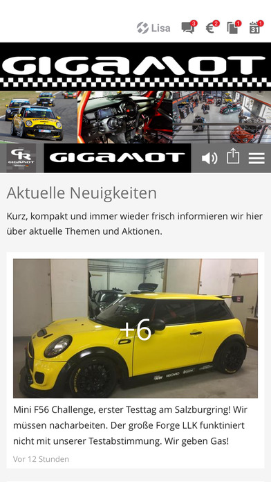 Gigamot Android APP auf Google Play