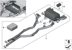 BMW M Performance Muffler System
