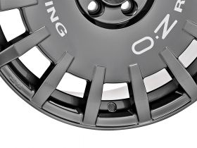 OZ RALLY RACING - DARK GRAPHITE SILVER LETTERING