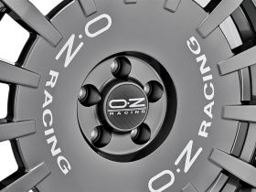 OZ RALLY RACING - DARK GRAPHITE SILVER LETTERING